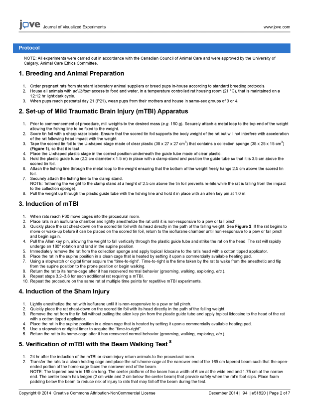 JoVE - A novel model of mTBI for juvenile rats_Page_2